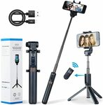 Apexel Selfie Stick Bluetooth Monopod W Foldable Tripod Stand & Remote $26.08 + Post ($0 Prime/ $39) @ Aipai Optic Amazon AU