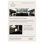 [NSW] 50% off Drinks at Sheraton Grand Sydney Hyde Park Every Thursday 5pm - 7pm