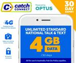 4GB + Unlimited Standard National Talk & Text 30-Day Mobile Plan for $0 (Save $10) @ Catch
