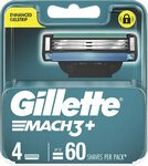 Gillette Mach3+ Replacement Cartridges 4pk $8.55 ($7.70 with S&S) + Delivery ($0 with Prime) @ Amazon AU