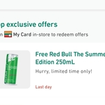 Free Red Bull The Summer Edition 250ml @ My 7-Eleven App