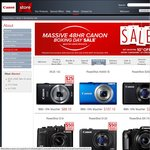 Canon Boxing Day Sale on NOW & 10% off Selected Cameras