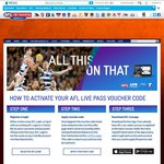 4 Week AFL Live Pass - Game Streaming