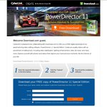 Cyberlink PowerDirector 11 Video Editing Software (Limited Features) Free Download till Aug 10