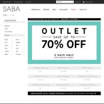 SABA Online OUTLET up to 70% OFF Ends Midnight 18 August
