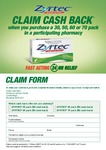 Zyrtec Cashbacks for 30/50/60/70 Packs ($3/$3/$4/$6) - Mail Form With Receipt
