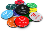$7.99 10 WhizTags NFC TAGS + FREE Bonus NFC TAG - NTAG203 - $10.99 for 12 Pack - Topaz 512
