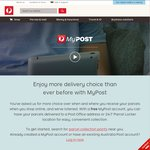 FREE Express Post 500g Bag by Registering with MyPost Deliveries & For A MyPost Card