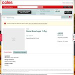 Coles HomeBrew Lager 1.7kg Clearance $4.51 (Was $9.05) @ Coles [Redcliffe, QLD + More?]