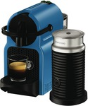 Nespresso DeLonghi Inissia Capsule Machine (Blue) + Aeroccino3 Frother - $99 (after Cashback) @ The Good Guys