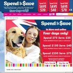 Spend & Save up to $70 off Online & in-Store @ PETstock