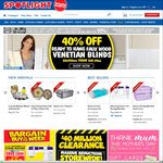 Spotlight $40 Million Clearance Sale - 40% off Blinds and Quilts, up to 70% off Rugs