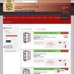 Dataworld 1.5m X 2.0m X 0.5m Metal Shelving System $110 400kg Load and 2.0m X 2.0m X 0.6m Metal Shelving System $150 800kg Load