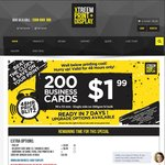 200x Custom Printed Business Cards $1.99 + $8 Delivery or Free Pickup (Vic) @ Xtreem Print & Display