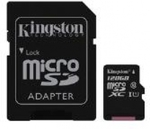 Kingston (128GB) microSDXC Class 10 UHS-I 45MB/s Read Card with Adapter $28.48 Delivered @ Ozgameshop