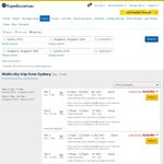 Sydney - Singapore Return $386  via Singapore Airlines