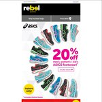 20% off on ASICS Footwear Rebel Store in Store Only [NSW, ACT & WA]