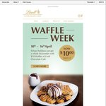$10 Waffles at Lindt Café (usually $15)
