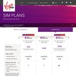 Virgin Mobile $45/Mth 18GB SIM Plan 12 Month Contract (Velocity Members)