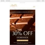 Lindt Happy World Chocolate Day 30% off Storewide