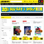 20% off Blu-Ray & DVDs and Kids Titles 25% off Promotion + 5% off for Newsletter Subscribers @ JB Hi-Fi
