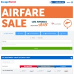 Los Angeles Return from $849 (Aug-Sept), Hong Kong Return from $599 (Oct-Dec) @ Escape Travel