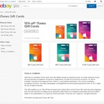 15% off iTunes Gift Cards Delivered @ Gift Card Store eBay (Excl. $20 Card, Max $500)