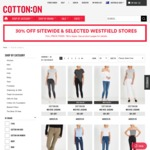 Cotton on 30% off Sitewide until 10th September