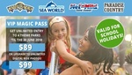 VIP Theme Park Pass (Movie World, Sea World, Wet N Wild, Paradise Country) and Unlim Digital Photos -$84.15 (RRP $139) @ Groupon