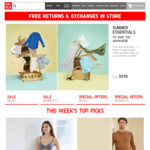 UNIQLO - $10 off Purchases over $50 (Online Only)