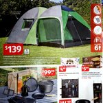 ALDI Special Buys - 6 Person Tent $139, Cast Iron Set $99, Ceiling Fan $169, Gas Smoker $199, Stainless BBQ $399 (Starts 28/10)