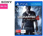 Uncharted 4: A Thief's End - PlayStation 4 - $19.95 + $9.99 Postage @ Catch on eBay
