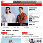 Free Shipping on All Items @ Uniqlo (Today Only)