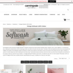 Canningvale Vintage Softwash Cotton Sheet Sets 60+% off - King $79.99, Queen $69.99, Double, $64.99, Single $49.99