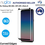 20% off - from $7.16 Samsung S9 S8 Plus Note8 NUGLAS Tempered Curved Glass Screen Protector - Delivered @ Ozsupplycentre on eBay