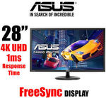 "ASUS VP28UQG 28"" 4K UHD Gaming Monitor $414.80 (PLUS15) @ OLCDirect eBay (eBay Plus Members)"