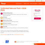 Unlimited Talk and Text + 15GB Data at $34.90 for 30 Days (Was 10GB) @ Yomojo