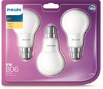 Philips 8W 806lm LED Globe - 3 Pack $9.90 @ Bunnings