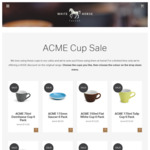 ACME Original Range Reduced Further: 70ml Demitasse Cup 6 Pack $14 + More (Standard $9.95 Shipping) @ White Horse Coffee
