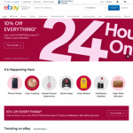 10% off Sitewide (No Minimum Spend, Max $100 Discount) @ eBay US