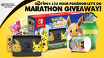 Win a Pokémon Let's Go! Eevee Edition Nintendo Switch Bundle or 1 of 10 G FUEL Prize Packs from Gamma Enterprises LLC