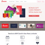 $10, $15 & $20 Bonus eGift Cards on $50/$100 Spend @ Prezzee