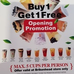 [NSW] Buy 1 Get 1 Free Bubble Tea at Gong Cha (Birkenhead Point)
