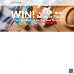 Win a Coconut Water & Sunscreen Prize Pack Worth $344.70 or 1 of 5 Minor Prize Packs from Cocobella