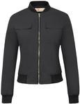 76% off Women's Multi-Pocket Zip Front Stand Collar Jacket Coat Tops, USD $6.48 (~AUD $9) @ GraceKarin