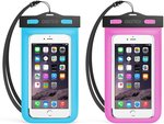 CHOETECH Waterproof Phone Pouch 2-Pack Blue/Pink $4.60 + Delivery (Free with Prime/ $49 Spend) @ Choetech Amazon AU