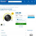 Google Chromecast Audio $41 | Toshiba Exceria Pro SDHC Memory Card 16GB/32GB - $5/ $10 @ Officeworks (Instore/Online)
