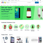 $5 off Voucher ($5.01 Minimum Spend) @ eBay Australia