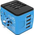 4 USB International Universal Travel Adapter $17.81 (10% off) + Delivery ($0 with Prime/ $39 Spend) @ Amazon AU
