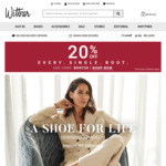 20% of ALL Boots at Wittner (Gosh Ankle Boot $40, etc)
